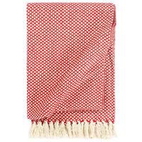vidaXL Přehoz bavlna 125 x 150 cm červený