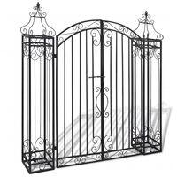 vidaXL Okrasná zahradní brána kované železo 122 x 20,5 x 134 cm