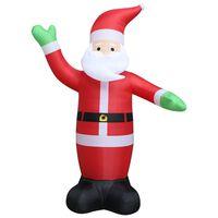 vidaXL Vánoční nafukovací Santa Claus LED IP44 600 cm XXL