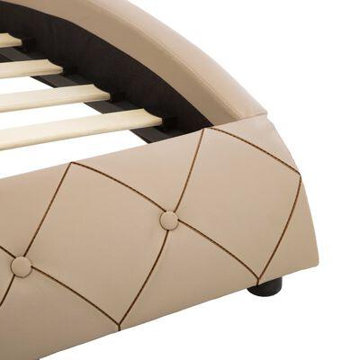 vidaXL Rám postele cappuccino umělá kůže 100 x 200 cm