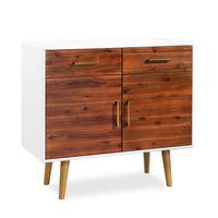 vidaXL Příborník z masivního akáciového dřeva 90 x 33,5 x 83 cm