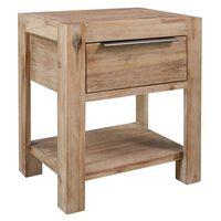 vidaXL Noční stolek se zásuvkou 40 x 30 x 48 cm masivní akáciové dřevo