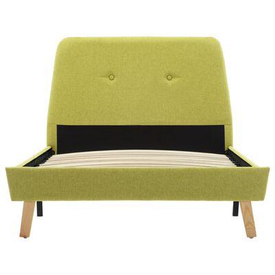 vidaXL Rám postele zelený textil 100 x 200 cm