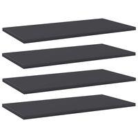 vidaXL Přídavné police 4 ks šedé 60 x 30 x 1,5 cm dřevotříska