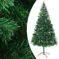 vidaXL Umělý vánoční stromek s ocelovým stojanem 210 cm 910 větviček