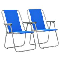 vidaXL Skládací kempingové židle 2 ks 52 x 59 x 80 cm modré