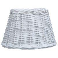 vidaXL Stínidlo na lampu proutěné 40 x 26 cm bílé