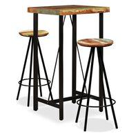 vidaXL Barový set 5 kusů masivní recyklované dřevo