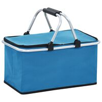 vidaXL Skádací chladící taška modrá 46 x 27 x 23 cm hliník