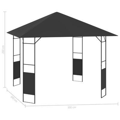 vidaXL Zahradní altán 3 x 3 m antracitový 160 g/m²