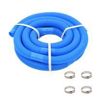 vidaXL Bazénová hadice se svorkami modrá 38 mm 6 m