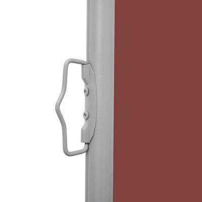 vidaXL Zatahovací boční markýza / zástěna na terasu 100 x 300 cm hnědá
