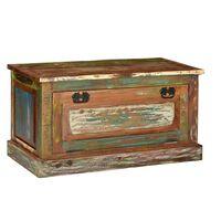 vidaXL Botníková lavice masivní recyklované dřevo