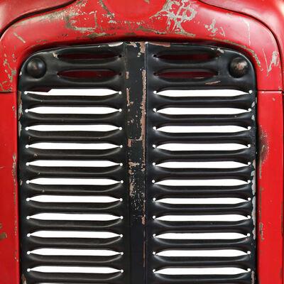 vidaXL Barový stůl Traktor z mangovníkového dřeva červený 60x120x107cm