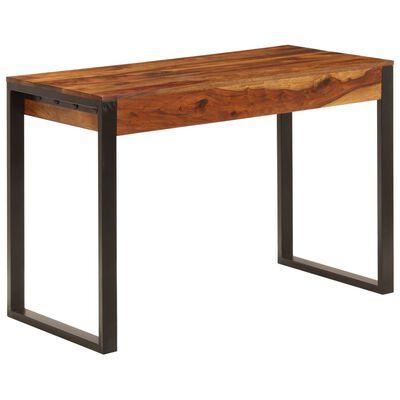 vidaXL Psací stůl 110 x 55 x 78 cm masivní sheesham a ocel