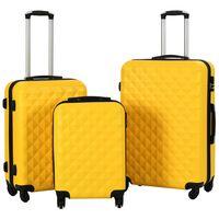 vidaXL Sada skořepinových kufrů na kolečkách 3 ks žlutá ABS