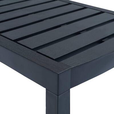 vidaXL 3dílná zahradní sedací souprava antracitová plast