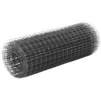 vidaXL Pletivo ke kurníku ocel PVC vrstva 25 x 0,5 m šedé