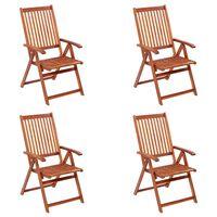 vidaXL Skládací zahradní židle 4 ks masivní akáciové dřevo