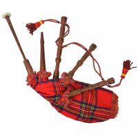 vidaXL Dětské skotské horalské dudy červený tartan Royal Stewart