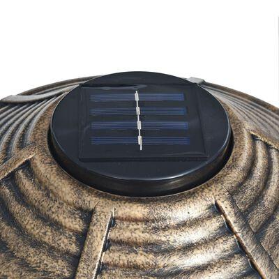vidaXL Dekorativní pítko pro ptáčky se solárními LED světly plast