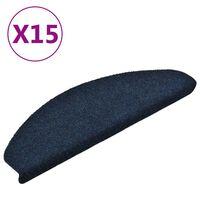 vidaXL Samolepící nášlapy na schody 15 ks námořnická modř 65x21x4 cm