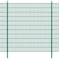 vidaXL 2D zahradní plotové dílce a sloupky 2008x2230 mm 14 m zelené