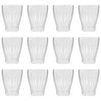 vidaXL Dvoustěnná termo sklenice na latte macchiato 12 ks 370 ml