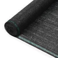 vidaXL Tenisová zástěna černá 1,6 x 25 m HDPE