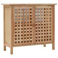 vidaXL Skříňka pod umyvadlo masivní ořechové dřevo 66 x 29 x 61 cm