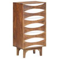 vidaXL Komoda se zásuvkami 44 x 35 x 90 cm masivní akáciové dřevo