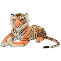 vidaXL Tygr plyšová hračka hnědý XXL