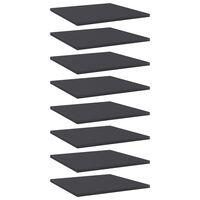 vidaXL Přídavné police 8 ks šedé 40 x 40 x 1,5 cm dřevotříska