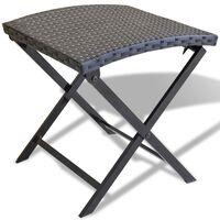 vidaXL Skládací stolička polyratan černá