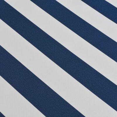vidaXL Skládací markýza, ručně ovládaná 350 cm modro-bílá,