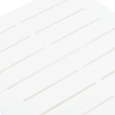 vidaXL Skládací zahradní stůl bílý 45 x 43 x 50 cm plast