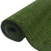 vidaXL Umělá tráva 1,5 x 8 m / 7–9 mm zelená