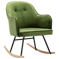 vidaXL Rocking Chair Light Green Velvet
