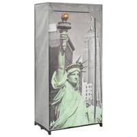vidaXL Šatní skříň New York 75 x 45 x 160 cm textil