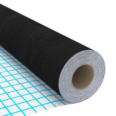 vidaXL Samolepící tapety na nábytek 2 ks tmavé dřevo 500 x 90 cm PVC