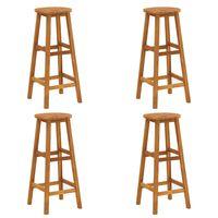 vidaXL Barové stoličky 4 ks masivní akáciové dřevo