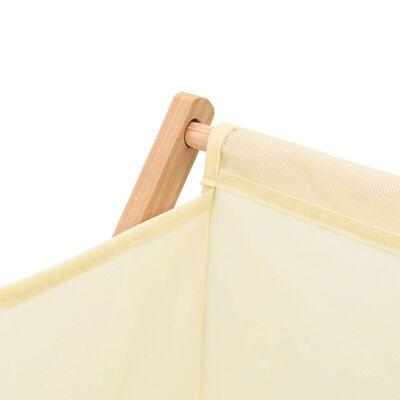 vidaXL Koš na prádlo z cedrového dřeva a látky béžový 42 x 41 x 64 cm