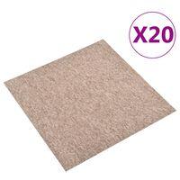 vidaXL Kobercové podlahové dlaždice 20 ks 5 m² 50 x 50 cm béžové
