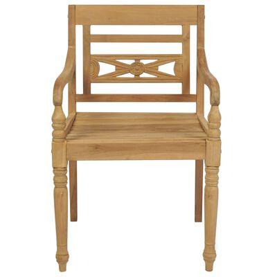 vidaXL Židle Batavia 2 ks masivní teak