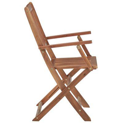 vidaXL Skládací zahradní židle s poduškami 2 ks masivní akáciové dřevo