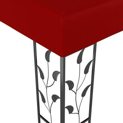 vidaXL Altán 3 x 3 m vínový, Červená