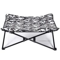 @Pet Vyvýšený pelíšek pro psa maskáčový potisk šedý
