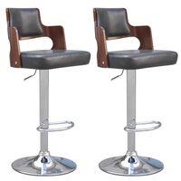 vidaXL Barové stoličky 2 ks černé umělá kůže