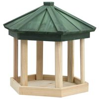 vidaXL Bird Feeder Octagon Solid Firwood 33x30 cm