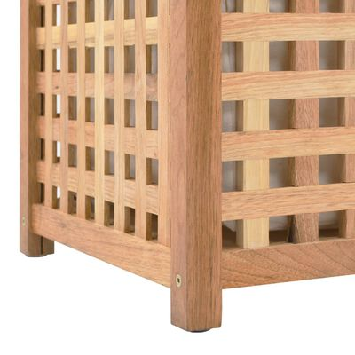 vidaXL Koš na prádlo 87,5 x 46 x 67 cm masivní ořechové dřevo